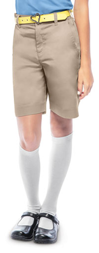 Classroom Uniforms Girls Adj. Waist Flat Front Short Khaki (52942-KAK)