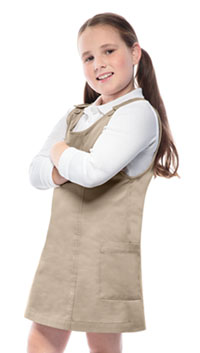 60d7629d9f Classroom Uniforms Girls Princess Seam Jumper Khaki (54912-KAK)