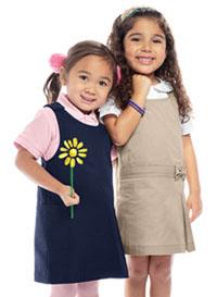 Classroom Uniforms Preschool Girls Princess Seam Jumper Dark Navy (54980-DNVY)