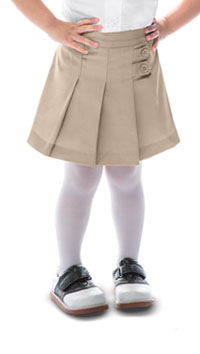 Classroom Uniforms Preschool Girls Tab Pleat Scooter Khaki (55120-KAK)