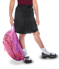 Classroom Uniforms Girls Pleated Tab Scooter Black (55122-BLK)