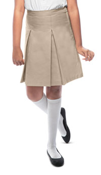 Classroom Girls Kick Pleat Skirt (55862-KAK) (55862-KAK)