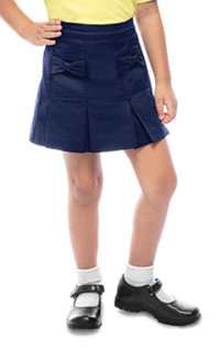 Classroom Uniforms Preschool Girls Bow Pocket Scooter Dark Navy (55980-DNVY)