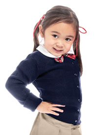 Classroom Uniforms Girls Cardigan Sweater Dark Navy (56422-DNVY)