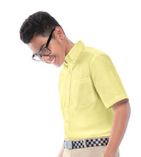 Classroom Uniforms Boys Short Sleeve Oxford Shirt Yellow (57602-YEL)
