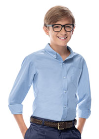 Classroom Uniforms Boys Long Sleeve Oxford Shirt Light Blue (57652-LTB)