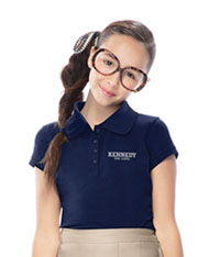 Classroom Uniforms Girls Stretch Pique Polo Dark Navy (58222-DNVY)