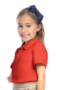 Classroom Youth Unisex Short Sleeve Pique Polo (58322-ORG) (58322-ORG)