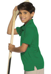 Classroom Uniforms Youth Unisex Moisture-Wicking Polo Shirt SS Kelly Green (58602-SSKG)