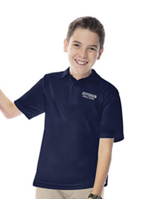 Classroom Youth Unisex Moisture-Wicking Polo Shirt (58602-SSNV) (58602-SSNV)