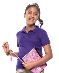 Classroom Uniforms Youth Unisex Short Sleeve Interlock Polo Purple (58912-PUR)