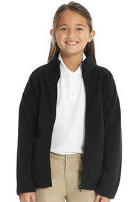 Classroom Uniforms Girls Fitted Polar Fleece Jacket Black (59102-BLK)