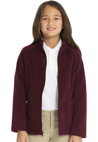 Classroom Uniforms Girls Fitted Polar Fleece Jacket Burgundy (59102-BUR)