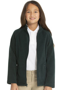 Classroom Uniforms Girls Fitted Polar Fleece Jacket Hunter (59102-HUN)