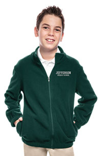 Classroom Uniforms Youth Unisex Polar Fleece Jacket Hunter Green (59202-HUN)