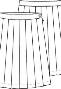 Classroom Knife Pleat Skirt Model 32 (5P5322A-P42) (5P5322A-P42)