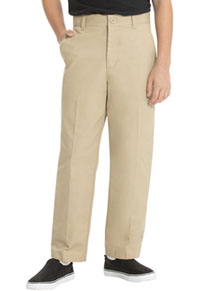 Real School Uniforms Real School Boys Flat Front Pant Khaki (60362-RKAK)