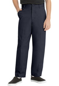 Real School Uniforms Real School Boys Husky Flat Front Pant Navy (60363-RNVY)