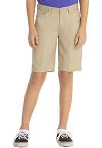 Real School Uniforms Real School Girls Low Rise Short Khaki (62072-RKAK)