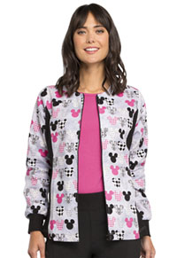 Licensed Prints Zip Front Knit Panel Warm-Up Jacket (6315C-MKMK) (6315C-MKMK)
