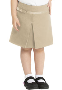 Real School Uniforms Pleat Scooter with Ribbon Bow Khaki (65000-RKAK)