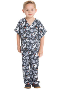 Tooniforms Kids Top and Pant Scrub Set Boogie With Jack (6620C-NCOW)