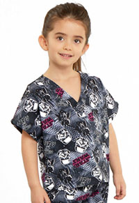 Tooniforms Kids Top and Pant Scrub Set Gimme My Space (6620C-SRMM)