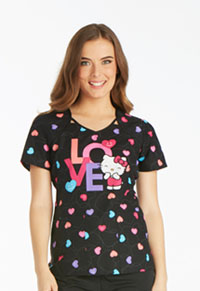 Tooniforms V-Neck Top Sweet Hello Kitty (6799CB-HKWE)