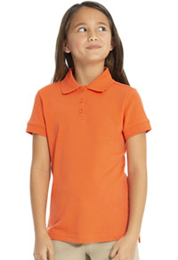 Real School Uniforms Short Sleeve Fem-Fit Polo Orange (68000-RORG)