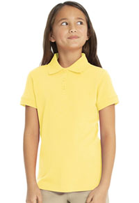 Real School Uniforms Short Sleeve Fem-Fit Polo Yellow (68000-RYEL)
