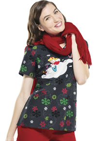 Tooniforms V-Neck Top Jolly Frosty Fun (6802CB-FRLL)