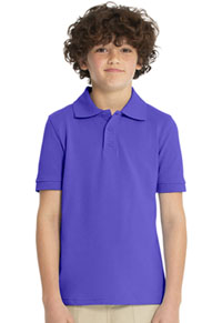 Real School Uniforms Short Sleeve Pique Polo Purple (68110-RPUR)