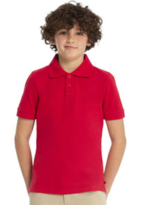 Real School Uniforms Short Sleeve Pique Polo Red (68110-RRED)