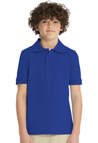 Real School Uniforms Short Sleeve Pique Polo Royal Blue (68110-RROY)
