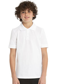 Real School Uniforms Short Sleeve Pique Polo White (68110-RWHT)
