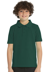 Real School Uniforms Short Sleeve Pique Polo Hunter (68112-RHUN)