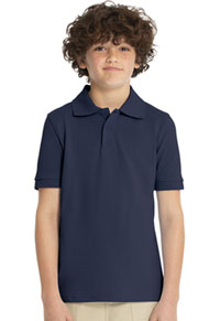 Real School Uniforms Short Sleeve Pique Polo Navy (68112-RNVY)