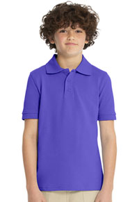 Real School Uniforms Short Sleeve Pique Polo Purple (68112-RPUR)