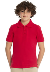 Real School Uniforms Short Sleeve Pique Polo Red (68112-RRED)