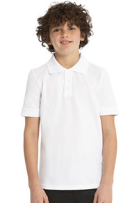 Real School Uniforms Short Sleeve Pique Polo White (68112-RWHT)