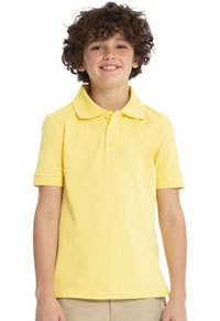 Real School Uniforms Short Sleeve Pique Polo Yellow (68112-RYEL)