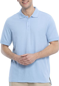 Real School Uniforms Short Sleeve Pique Polo Light Blue (68114-RLTB)