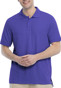 Real School Uniforms Short Sleeve Pique Polo Purple (68114-RPUR)