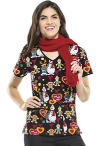 Tooniforms V-Neck Top Sesame Ho Ho (6846C-SWHO)