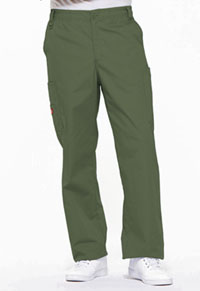 Men's Zip Fly Pull-On Pant Olive (81006-OLWZ)