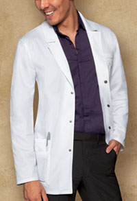 "31"" Men's Snap Front Lab Coat"