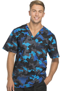 Dickies Men's V-Neck Top Dots in Disguise (81720-DTIN)