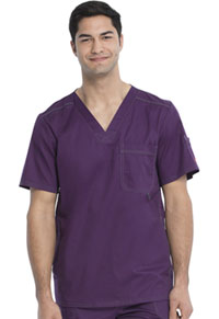 Dickies Men's V-Neck Top Eggplant (81722-EGPZ)
