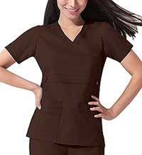 Dickies Mock Wrap Top Chocolate (817355-CHCZ)