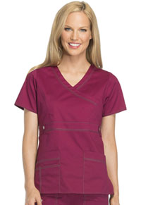Dickies Mock Wrap Top Mulberry (817355-MBRY)